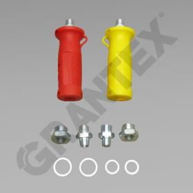 PALM COUPLING REPAIR KIT HANDLES RED AND YELLOW 0055